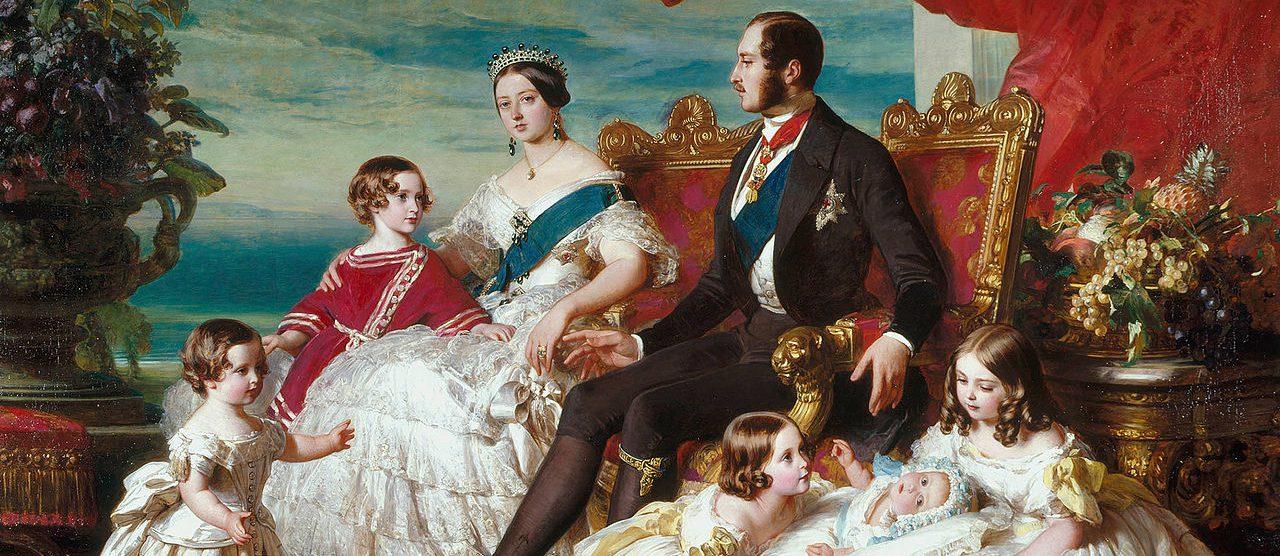 ヴィクトリア女王一家(フランツ・ヴィンターハンター画)
