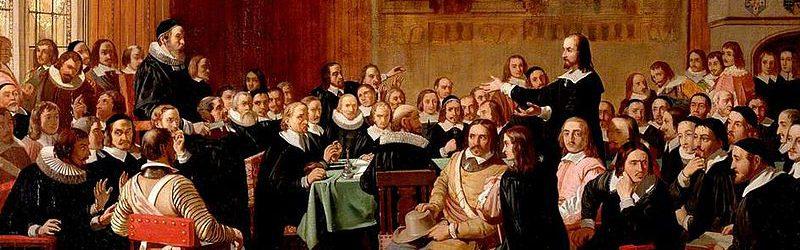 「良心の自由の表明」 ジョン・ロジャース・ハーバート画