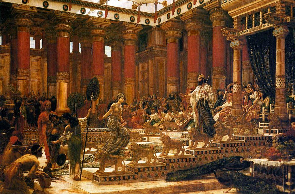 「シバの女王のソロモン王の訪問」エドワード・ポインター作